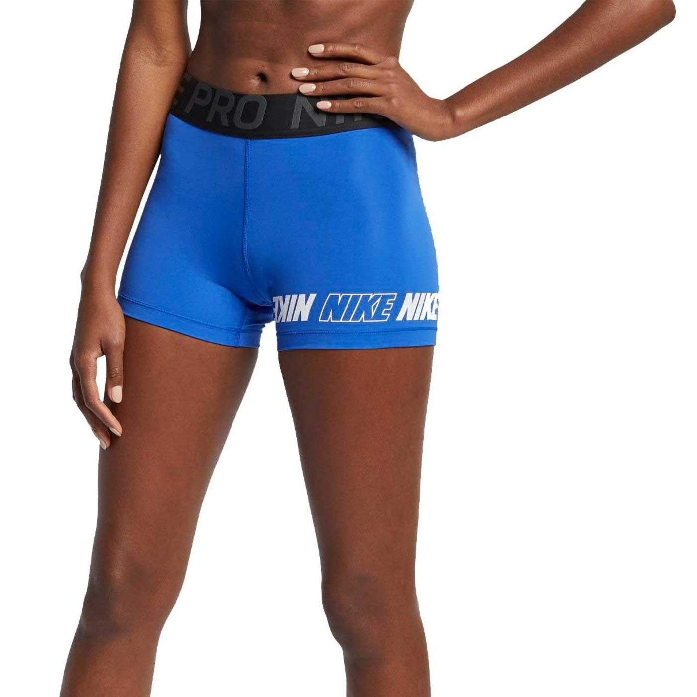 Nike Women's Pro Sport Distort 3'' Short (Game Royal/Black/Anthracite/White, Small 3)