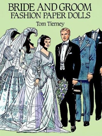Bride and Groom Fashion Paper Dolls