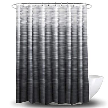 YIH Grey Shower Curtain 72  × 72 , Waterproof Bathroom Curtains with Rust-Resistant Metal Grommets Top,Mildew Resistant & Antibacterial Gift Idea