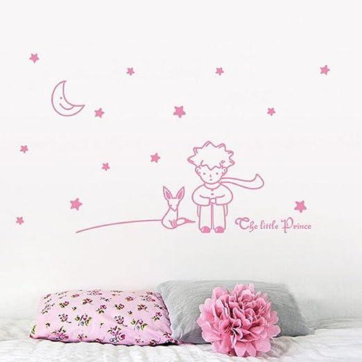 Pegatinas de pared,PAOLIAN Stars Luna El Principito Chico ...