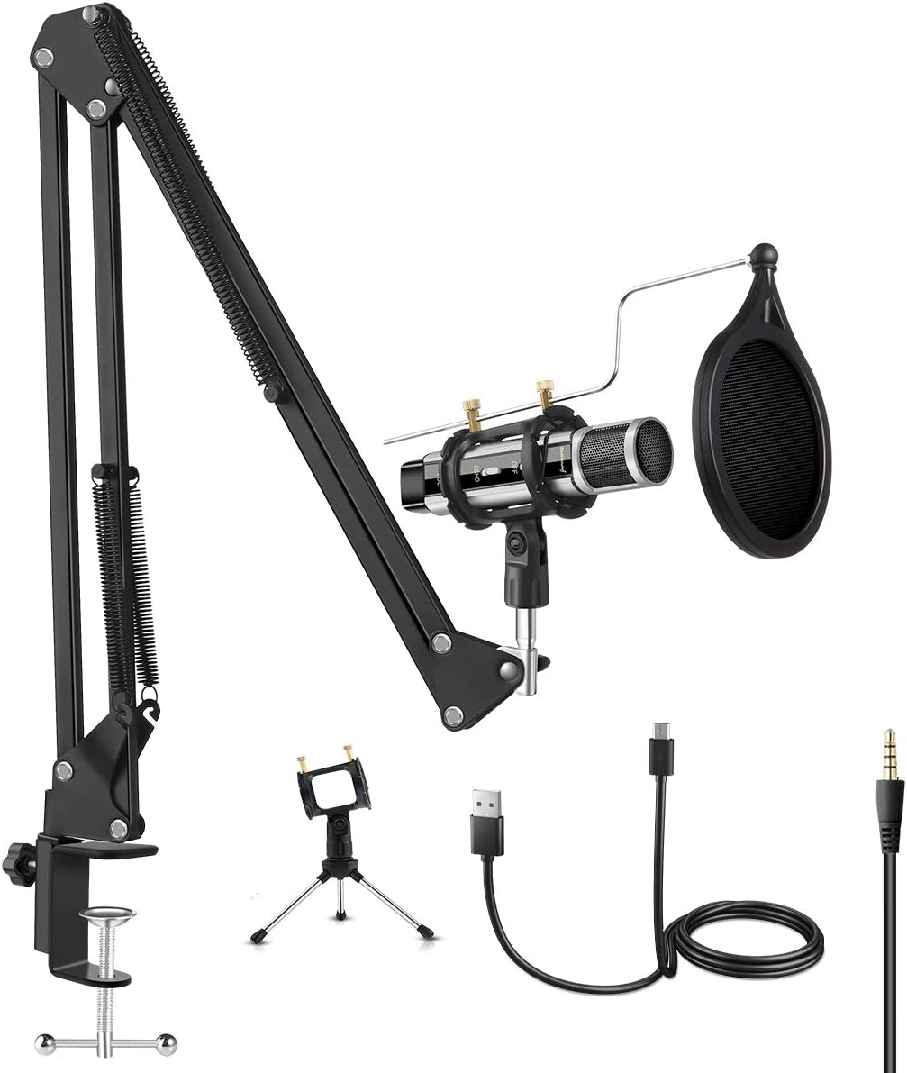 ZealSound Microphone Bundle Max 88% OFF Condenser for Ph USB Kit supreme