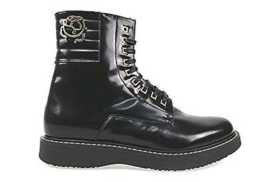 9ec1d66787a6 BRACCIALINI Stiefeletten Damen 37 Schwarz glänzendem Leder AN54-B ...