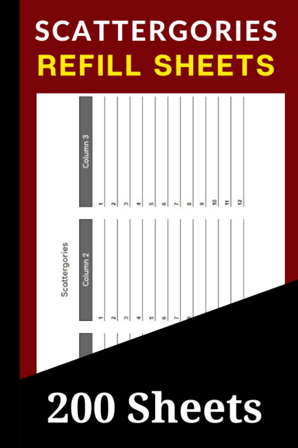 Amazon Com Scattergories Refill Sheets 200 Scattergories Board Game Refills Pad Extra Answer Pad Refills For Scattergories 9798557391740 Smith Colleen Books