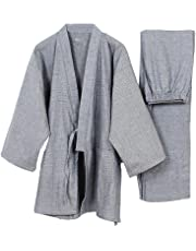Fancy Pumpkin Traje de meditación de traje de pijamas Kimono de estilo japonés para hombres