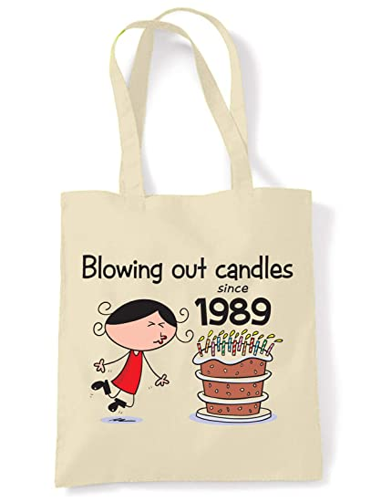 Blowing Out Candles Since 1989 30th Birthday Tote / Shoulder Bag