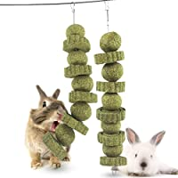 Bunny Chew Toys, 2 Pack Rabbit Toys for Grinding Teeth Molar Improve Dental Health, Grass Cake Pet Snacks Chew Toys…