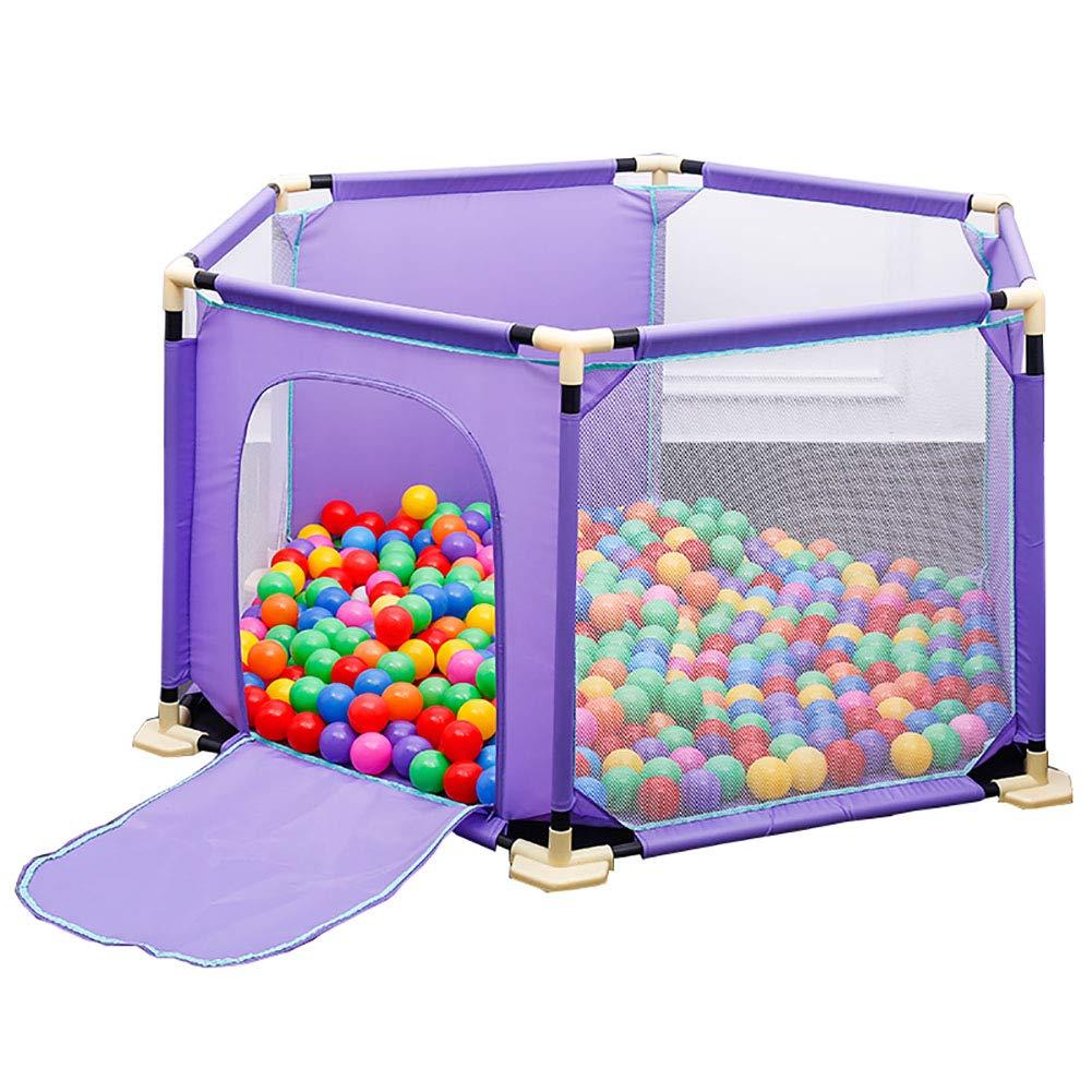 【国内在庫】 六角形の安全なベビープレイヤー B07KFCKQ1W、アンチロールオーバーの幼児は、ジッパー式のドア、反衝突の紫色の子供が遊びゲームのフェンス B07KFCKQ1W, FULLangle:423c9f22 --- a0267596.xsph.ru