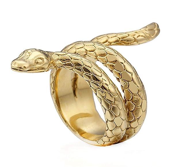 Anillo de serpiente para hombre