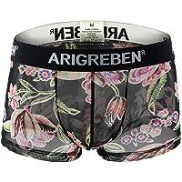POIUDE Slips 5PC sous-vêtements en Coton Confortable Boxer Impression Respirant Boxer Shorts
