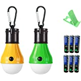 led Camping Lights led Tent Light Emergency Light [2 Pack] Yellow-green Battery 6 Cell Phone Stand Random Color YZFDBSX