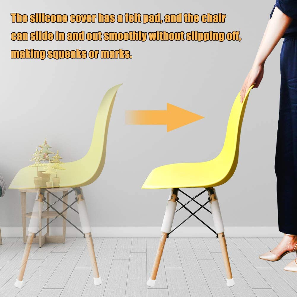 Anti-Slip Round Chair Leg Floor Protection Covers 25-29mm 16Pcs Furniture Silicon Protection Cover for Chair /& Table Silicon Chair Leg Caps Silicone Leg Feet Pads
