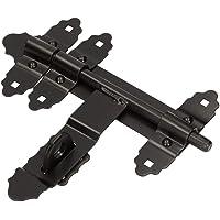 KOTARBAUBoutvergrendeling, 200/12 mm, zwart, gepoedercoat, deurgrendel, zwart, staldeur, slotgrendel, afsluitbaar
