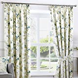 Fusion - Jeannie - Ready Made Lined Pencil Pleat Curtains - 66' Width x 54' Drop (168 x 137cm), Duck Egg Blue