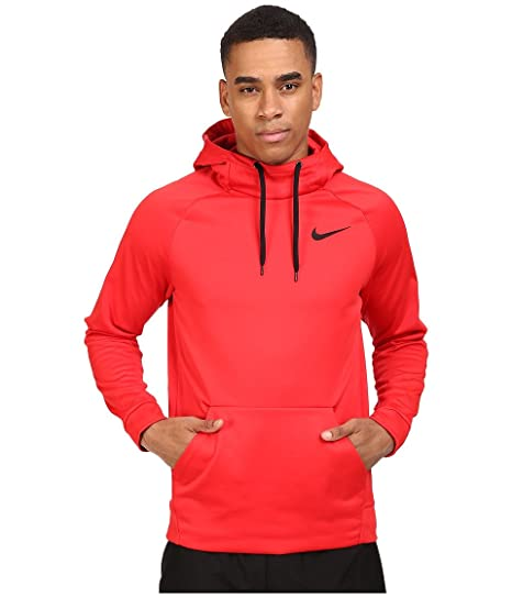 NIKE Men s Therma Pullover Training Hoodie (Medium, University Red Black) 3baa6d611e