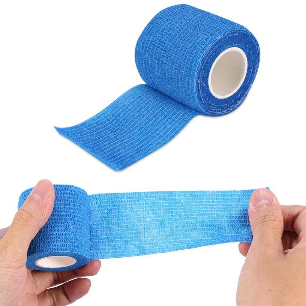 Lorjoyx 10cmx4.5m Self-Adhering Emergency Wrapping Bandage Outdoor Sports Wrist Guard Tape Elastic Nonwoven Fabric Bandage