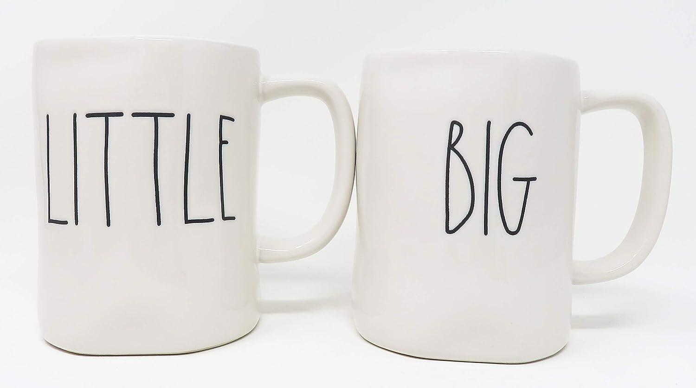 Rae Dunn by Magenta BIG and LITTLE Ceramic Coffee Mug Set