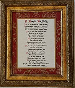 A House Blessing - An Inspirational Framed Prayer - Wedding, Anniversary, or Housewarming Gift (Personalization Available)