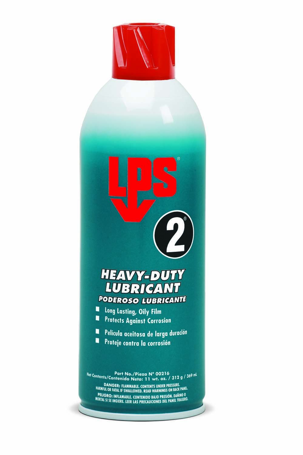 LPS 2 Heavy-Duty Lubricant, 11 oz Aerosol (Pack of 12) by LPS