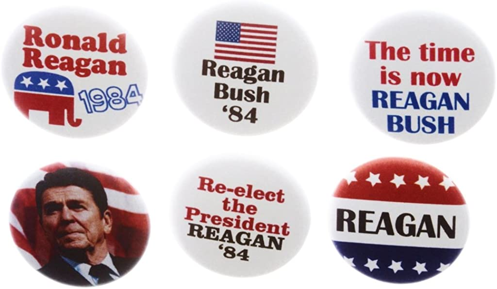 Ronald ReaganGeorge Bush Re-Elect for President two different 3 pins