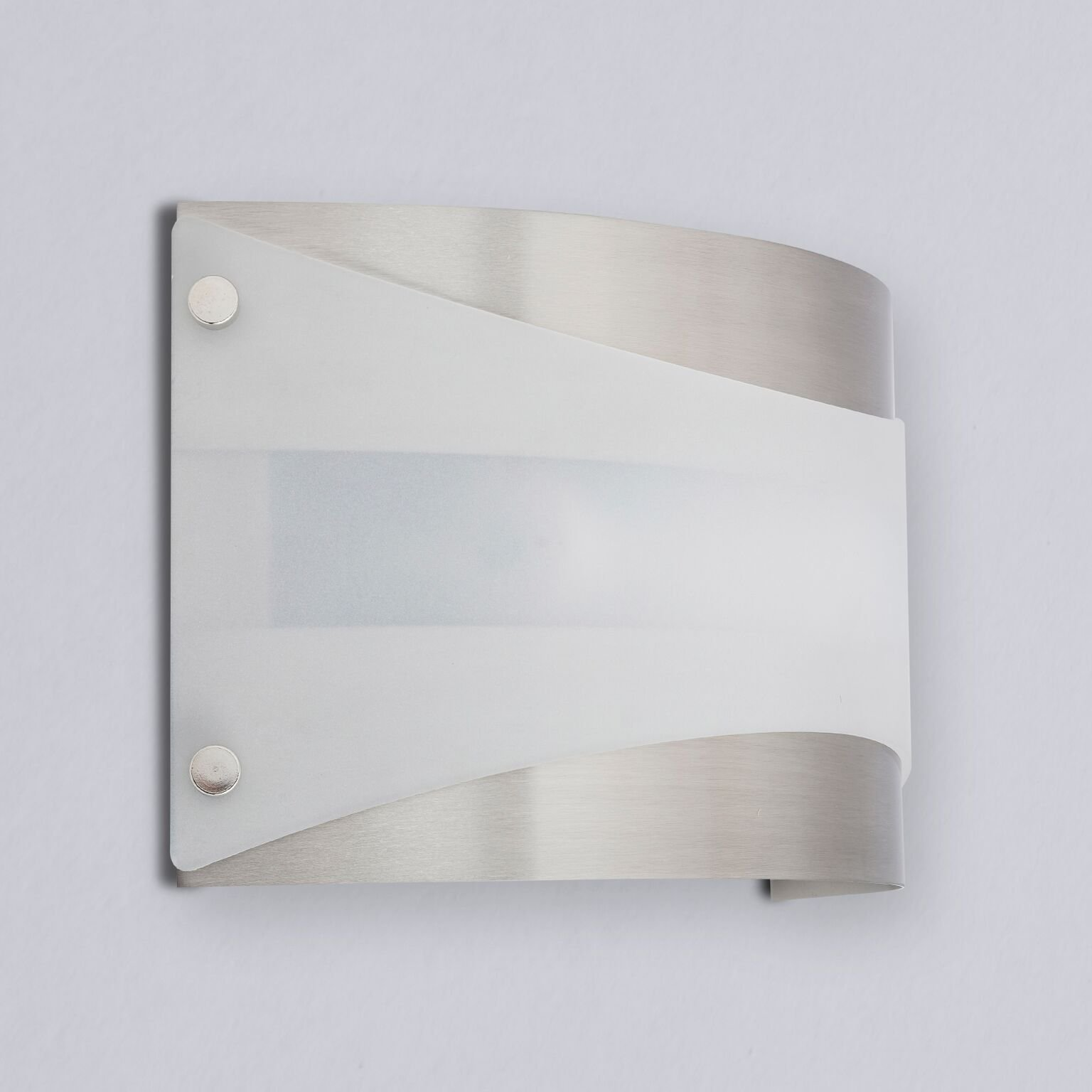 Acciaio Wall Sconce One-Light Lamp Brushed Nickel with White Diffuser - Linea di Liara LL-SC6-BN by Linea di Liara (Image #5)