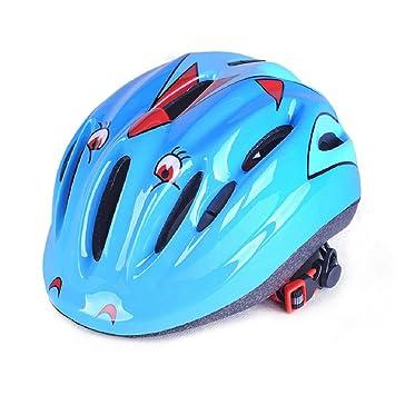 Casco y Bicicleta de los niños casco de patinaje monopatín multideportivos cascos para niños, Azul