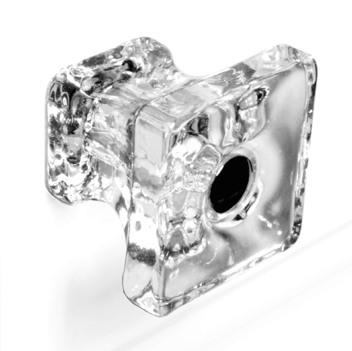 Classic Cabinet Knobs Unique Dresser Drawer Pulls or Glass Handles 10 Pack T82VF Clear Square Knob with Polished Nickel Hardware. Romantic Decor & More