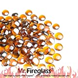 Mr. Fireglass 1/2' Reflective Fire Glass Drops with Fireplace and...