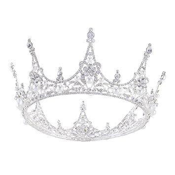 Amazon.com: SSNUOY - Diadema bañada en plata con perlas de ...