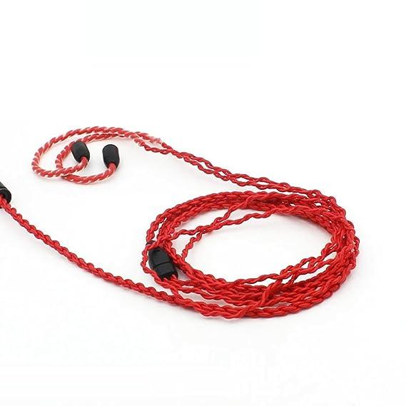Moon saudio 1.2/metros de cable de auriculares para AUX est/éreo Cable de actualizaci/ón de cable para Shure SE215//SE315//SE425//SE535//SE846//UE900