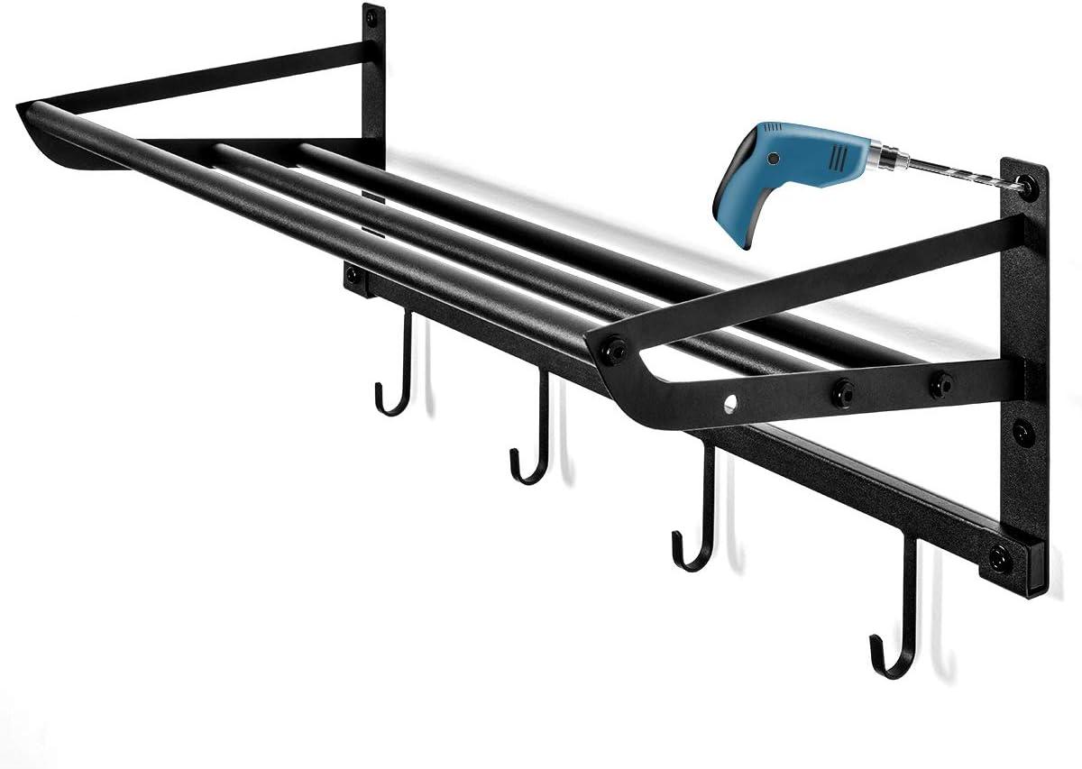 Sports Equipment Storage Rack for Baseball/Basketball/Football/Badminton/Golf/Yoga/Exercise Balls - Four Badminton Tennis Hold-2 Separate Storage Rack- Baseball/Softball Bat Rack/Bat Hooks: Sports & Outdoors
