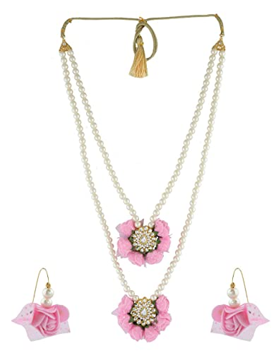 46a0ffb73f Amazon.com: Anuradha Art Baby Pink Colour Double Layer Styled With ...