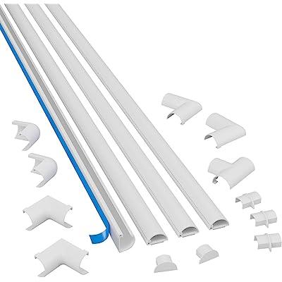 D-Line 2010KIT001 Multipack De Canaleta Para Cableado, Blanco, 20x10mm (Micro), Set de 4 Piezas