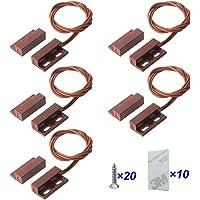 Gebildet 5pcs Cableado Empotrado Seguridad de Ventana/Puerta Sensor