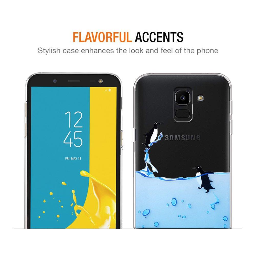 Salice Eouine Custodia Cover Silicone Trasparente con Disegni Ultra Slim TPU Silicone Morbido Antiurto 3D Cartoon Bumper Case per Samsung Galaxy J6 2018 5,6 Smartphone Cover Samsung J6 2018