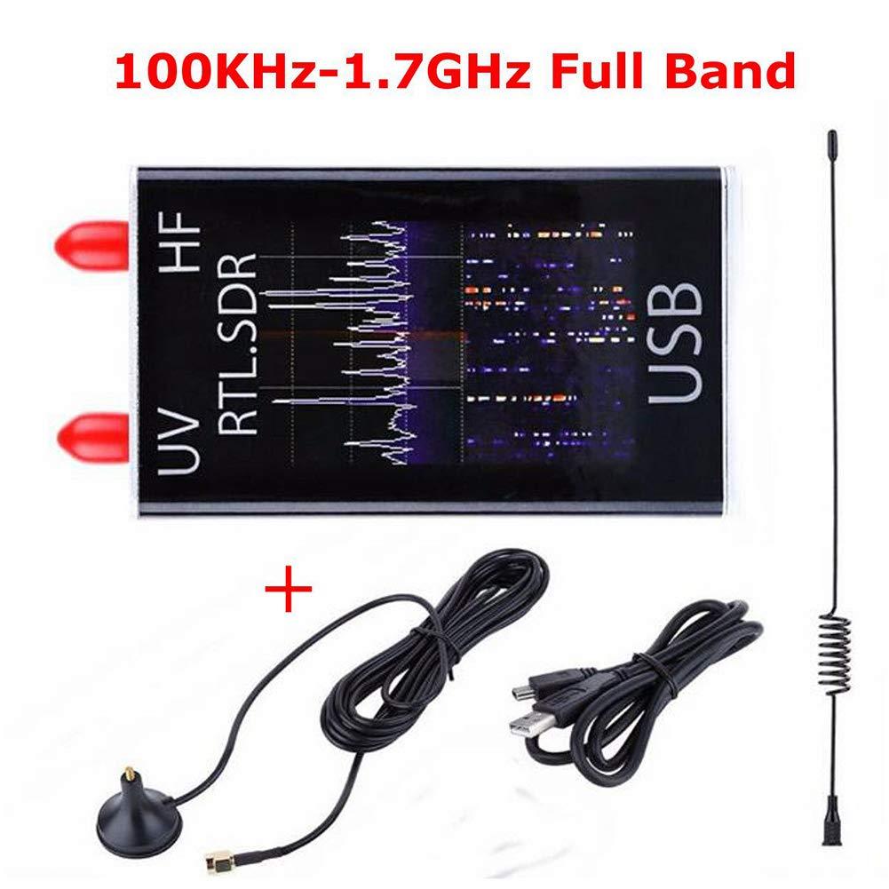 Studyset 100KHz-1.7GHz Full Band UV HF RTL-SDR USB Tuner Receiver/ R820T+8232 Ham Radio by Studyset