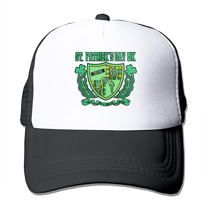 757de1c2cd4f4 Toda Mafalda St. Patrick s Day Baseball Caps Trucker Hat Summer Mesh Cap  Adjustable Size Snapback Hats for Mens Black at Amazon Men s Clothing store
