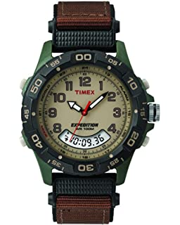 12010dcaf Timex Expedition Resin Combo Classic Analog Green/Black/Brown (38191)