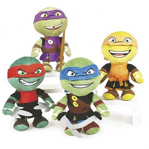 Tortugas Ninja Pack 4 Peluches 30 CM - Leonardo Raphael ...