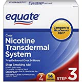 Equate Clear Nicotine Transdermal System Step Three 7 mg Stop Smoking Aid Patches