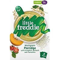 Little Freddie Multigrain Porridge with Pumpkin, Spinach & Tomatoes, Probiotic (2 Pack), 160 g,12.6 x 5.7 x 20 cm,green