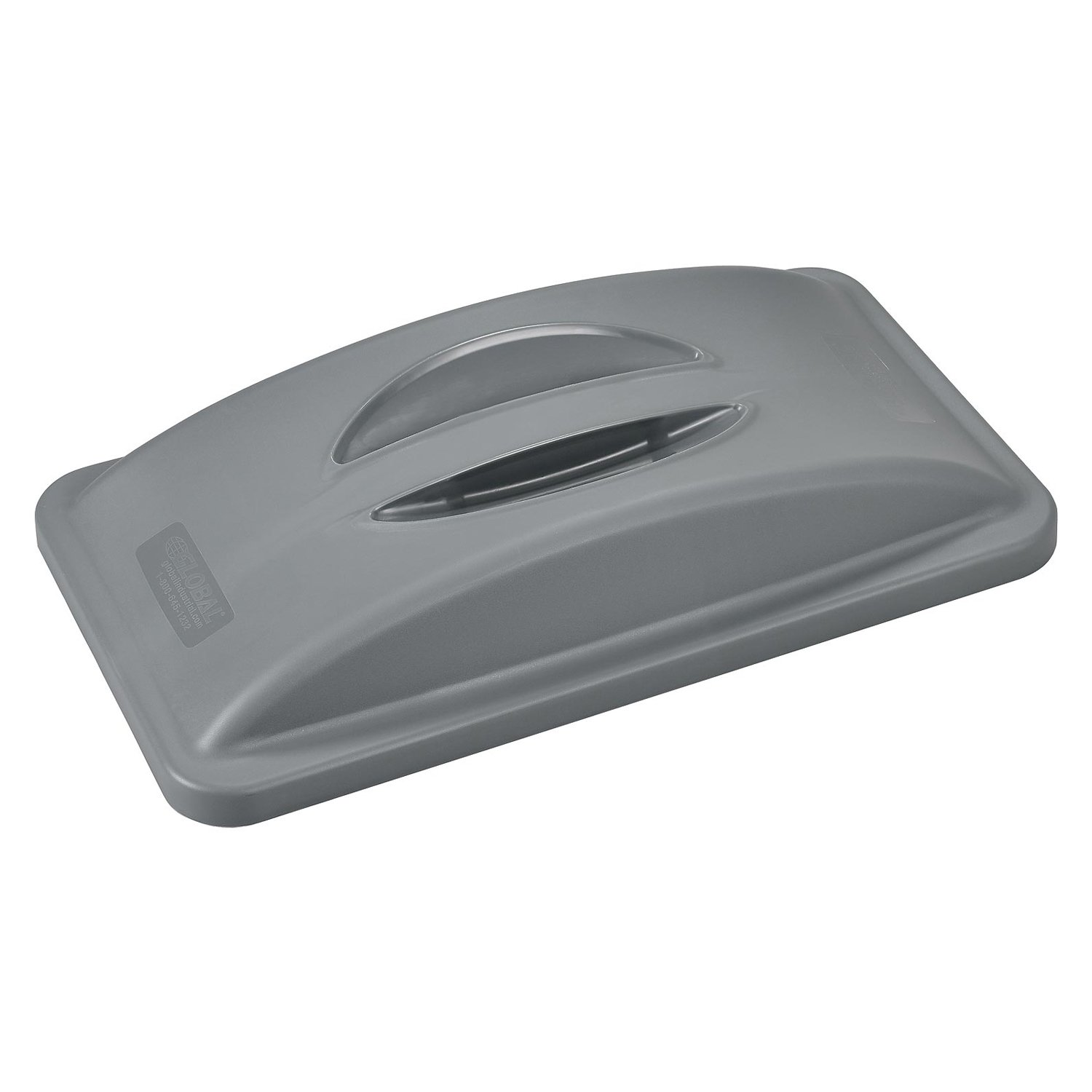 Solid Recycling Lid w/Handle for Slim Trash Can, Gray Global Industrial