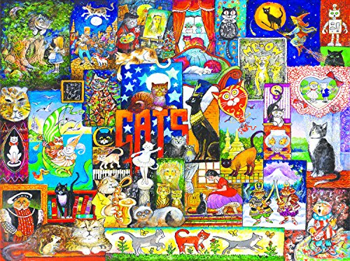 World of Cats 1000 pc Jigsaw Puzzle -Cat theme- by SunsOut (Amazing Puzzles)
