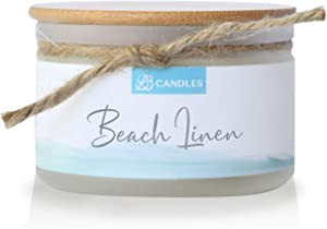 BB Candles Coastal Essentials Natural Soy Hand Poured Candle, Beach Linen Scent, Fragrant Coastal Candle with Strong Scents, Artisan Candle, 4oz, 30+ Hours Burn Time