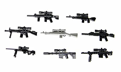 New Lot of 38 Sniper Rifle Weapons Accessories Toys Guns for Lego Minifigures