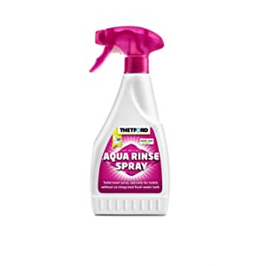 Thetford Aqua Rinse Spray Cassette Toilet Bowl Cleaner 500ml