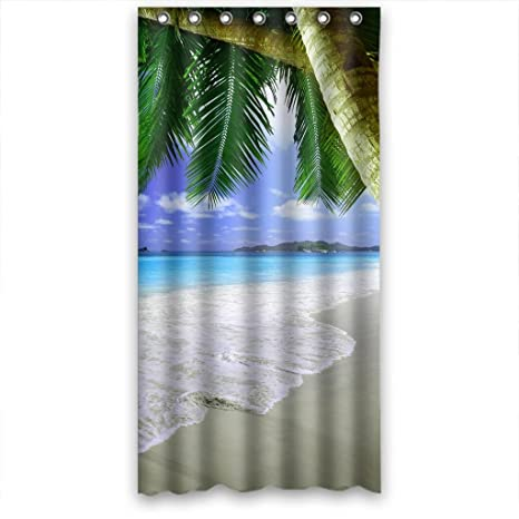 Amazon Blue Sea Blue Sky Soft Sand Beach Seaside Shower Curtain