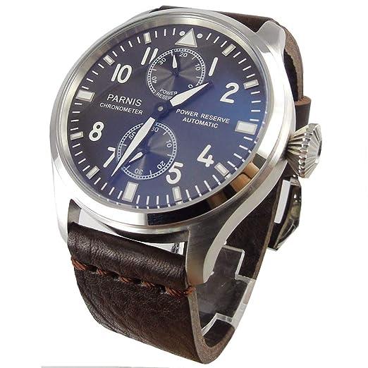 PARNIS 47 mm gris Dial luminoso Potencia reserva Gaviota - Reloj automático de hombre: Amazon.es: Relojes