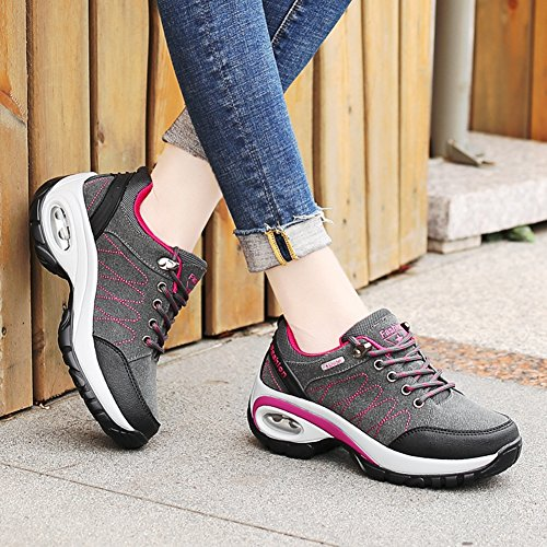 Mountaineering Gray Casual CYBLING Womens Outdoor for Hiking Athletic Running Walking Shoes A7OP0