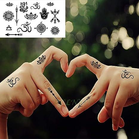 tzxdbh 10 Piezas Impermeables Tatuajes temporales Tatuajes ...