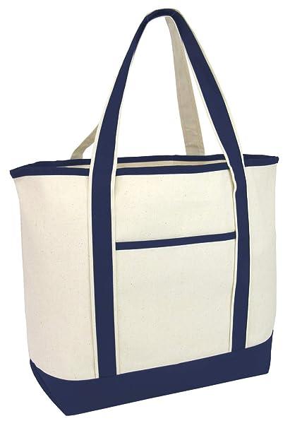 59dd0d88d2e Amazon.com   TBF Heavy Canvas Deluxe Tote Bag with Front Pocket ...